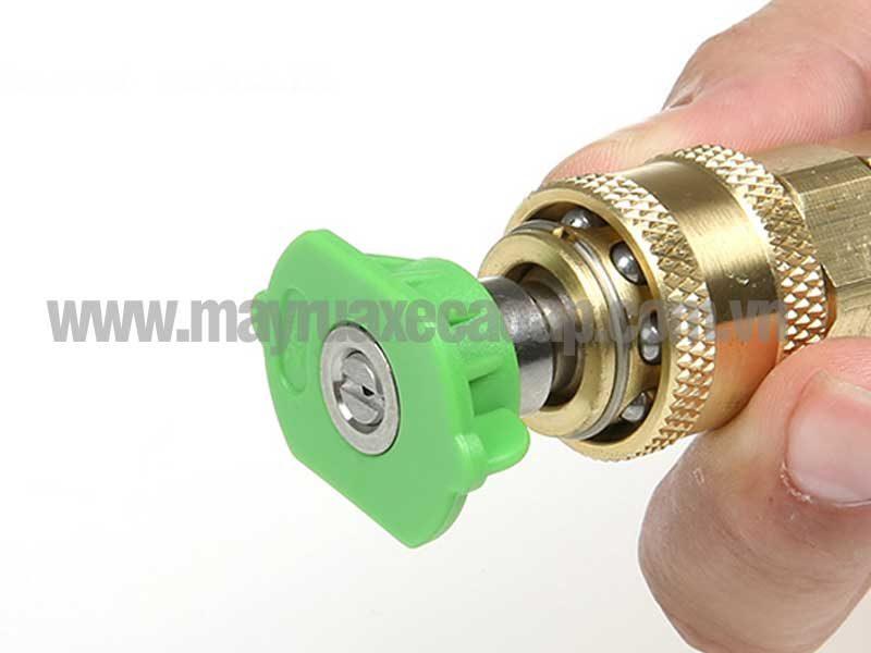 Đầu ren nối nhanh 1/4 inch dùng cho đầu súng phun áp lực, kết nối với béc phun